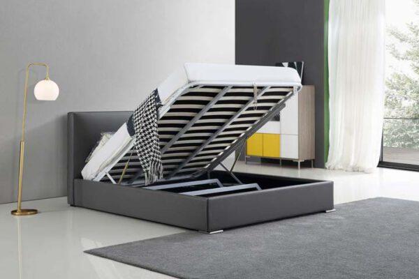 מיטה זוגית דגם אדל אפור