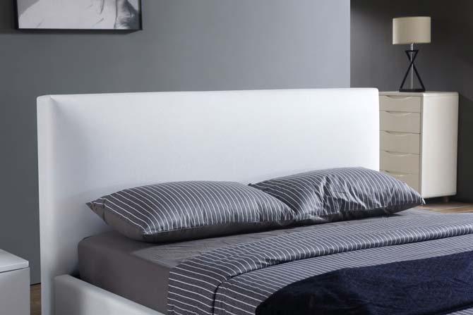 מיטה זוגית דגם אדל לבן