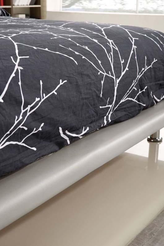 מיטה זוגית דגם אמבר אפור