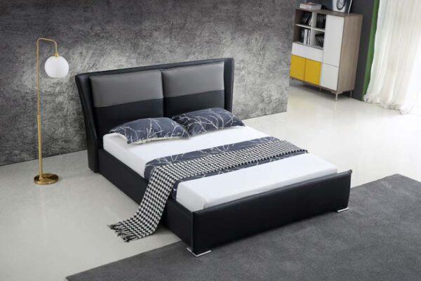 מיטה זוגית דגם בריטני שחור אפור