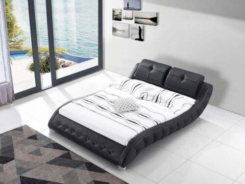 מיטה זוגית דגם קליאו שחור