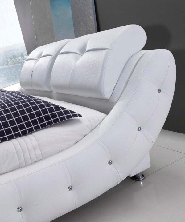 מיטה זוגית דגם קליאו לבן