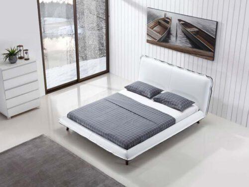מיטה זוגית דגם קלודין לבן
