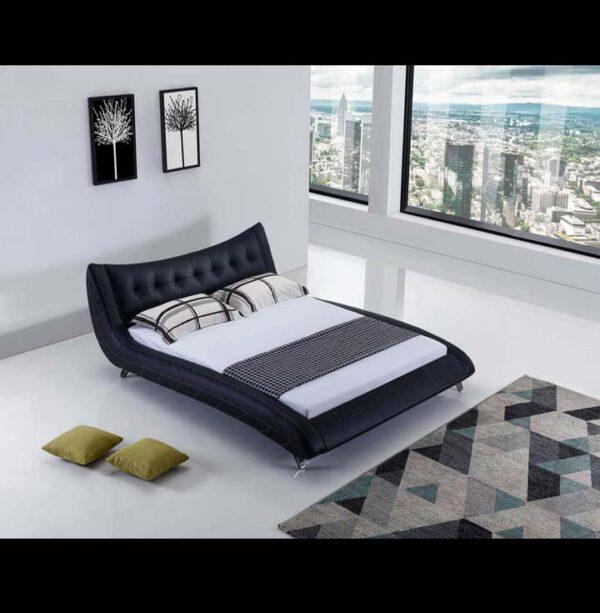 מיטה זוגית דגם קומפורט שחור