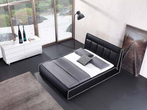 מיטה זוגית דגם אקליפס שחור