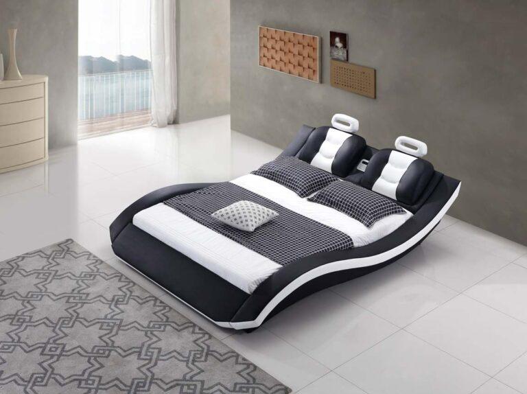 מיטה זוגית דגם לאון שחור