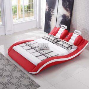 מיטה זוגית דגם לאון אדום