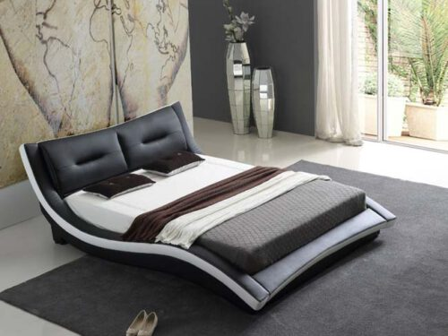 מיטה זוגית דגם לורן שחור