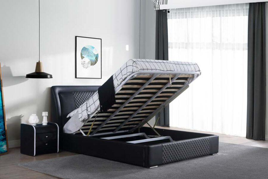 מיטה זוגית דגם מילאן שחור