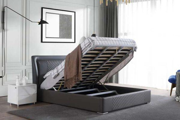 מיטה זוגית דגם מילאן אפור