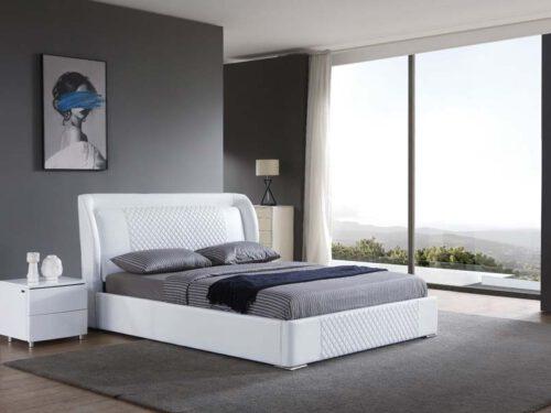 מיטה זוגית דגם מילאן לבן