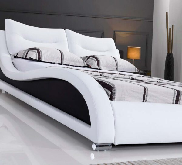 מיטה זוגית דגם וויב לבן