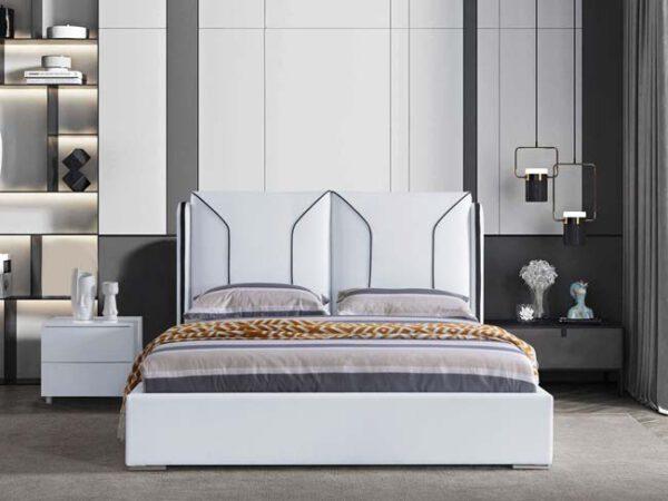 מיטה זוגית דגם ניקול לבן