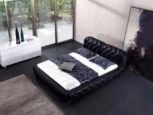 מיטה זוגית דגם שחור רטרו