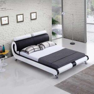 מיטה זוגית דגם ראונד לבן