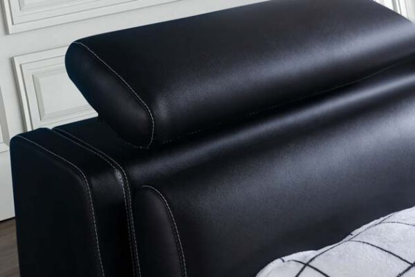 מיטה זוגית דגם סילבר שחור