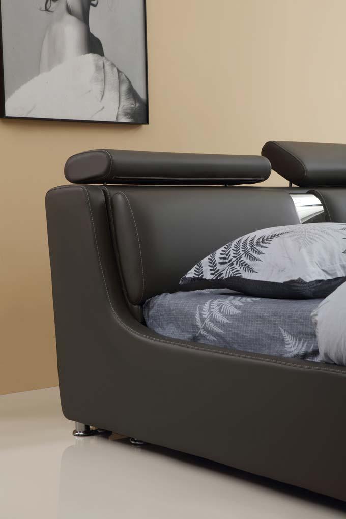 מיטה זוגית דגם סילבר אפור