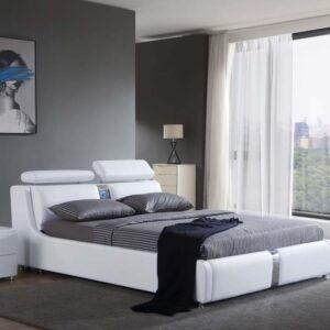 מיטה זוגית דגם סילבר לבן