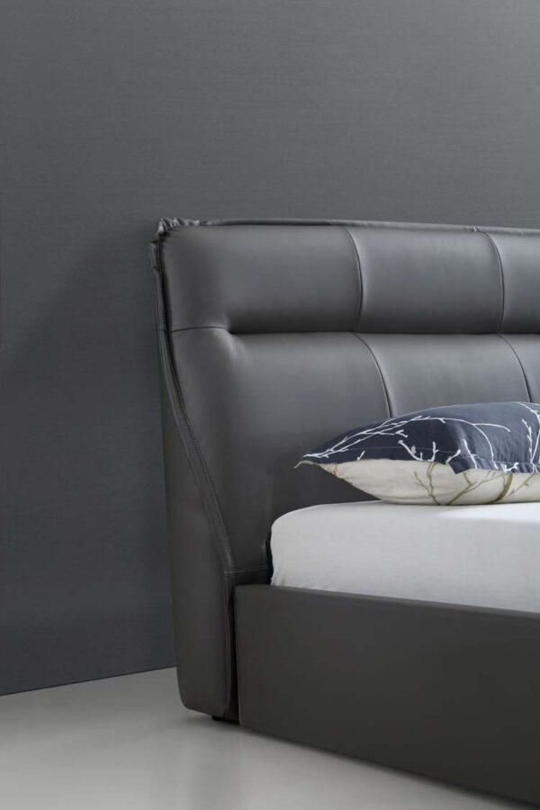 מיטה זוגית דגם סול אפור