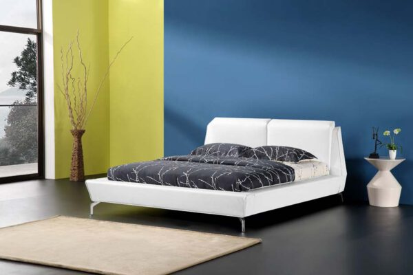 מיטה זוגית דגם סוברין לבן