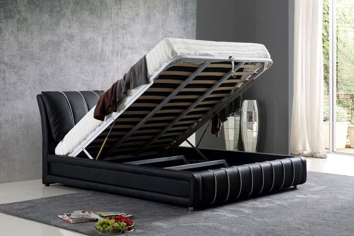 מיטה זוגית דגם טיפאני שחור