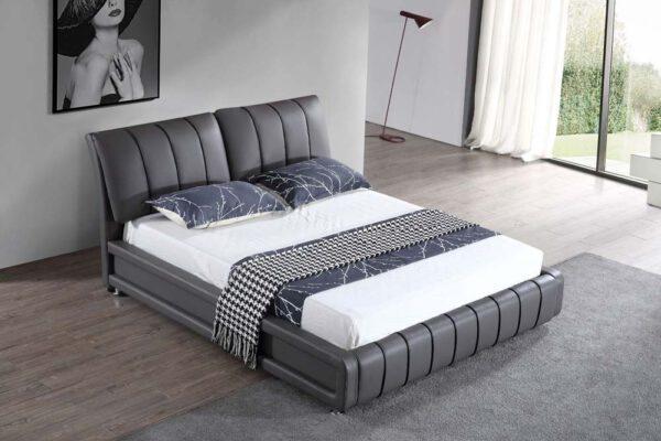 מיטה זוגית דגם טיפאני אפור