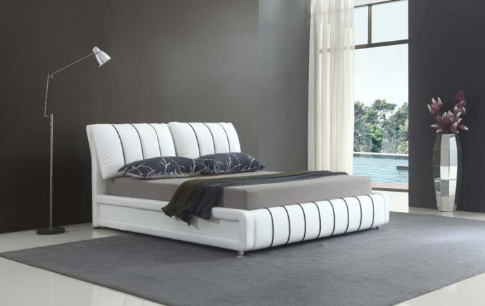 מיטה זוגית דגם טיפאני לבן