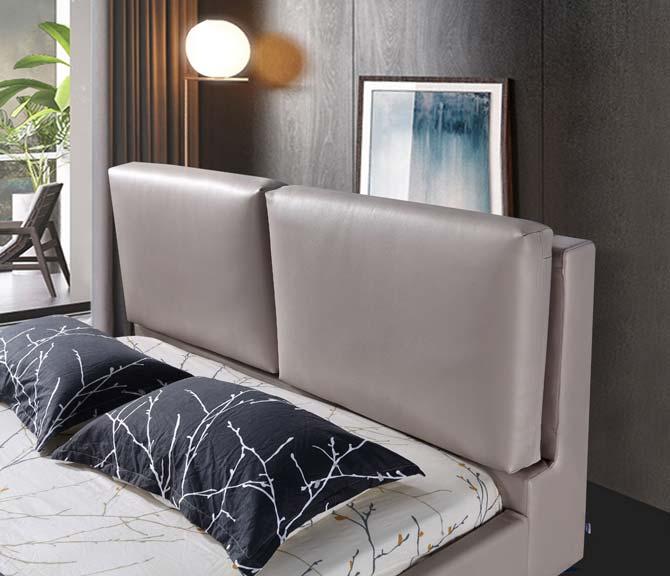 מיטה זוגית דגם טווין אפור