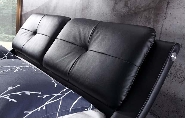 מיטה זוגית דגם ולנסיה שחור