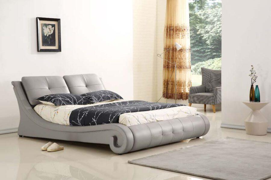 מיטה זוגית דגם ולנסיה אפור