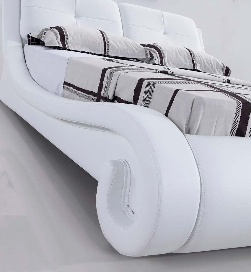 מיטה זוגית דגם ולנסיה לבן