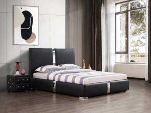מיטה זוגית דגם דונה שחור
