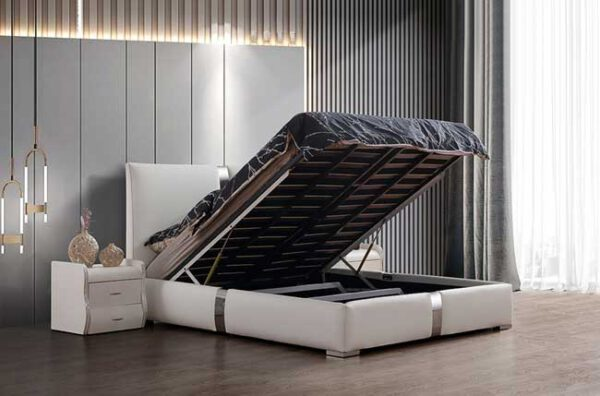 מיטה זוגית דגם דונה לבן