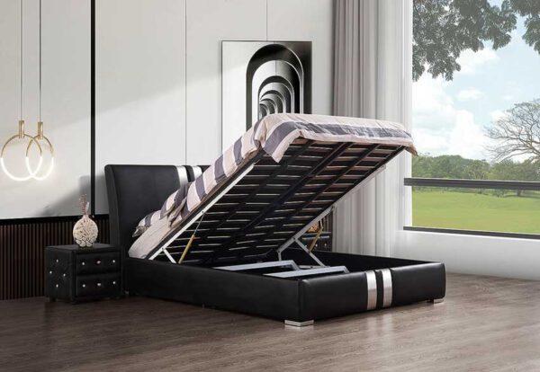 מיטה זוגית דגם ניו יורק שחור