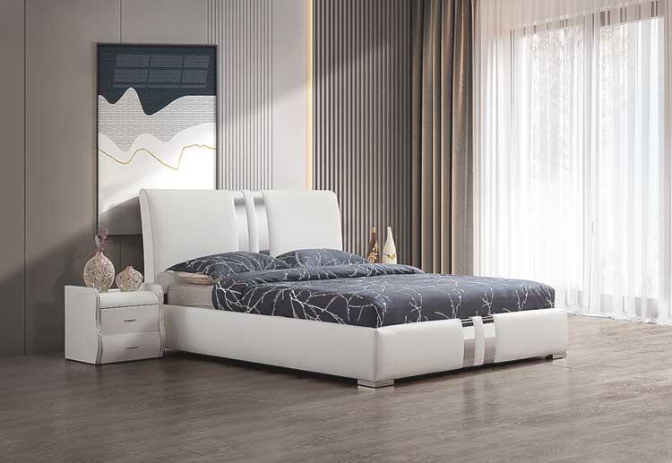 מיטה זוגית דגם ניו יורק לבן