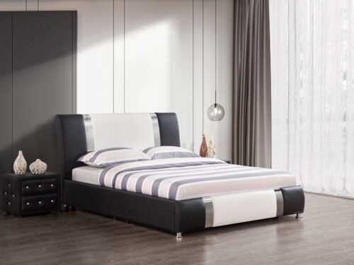 מיטה זוגית דגם וורטקס שחור