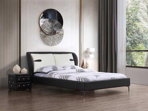 מיטה זוגית דגם דיווה שחור ללא ארגז מצעים