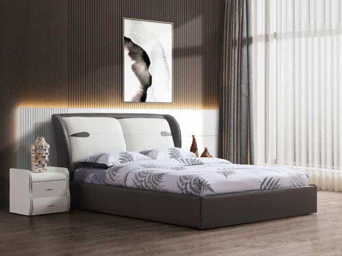 מיטה זוגית דגם דיווה אפור עם ארגז מצעים