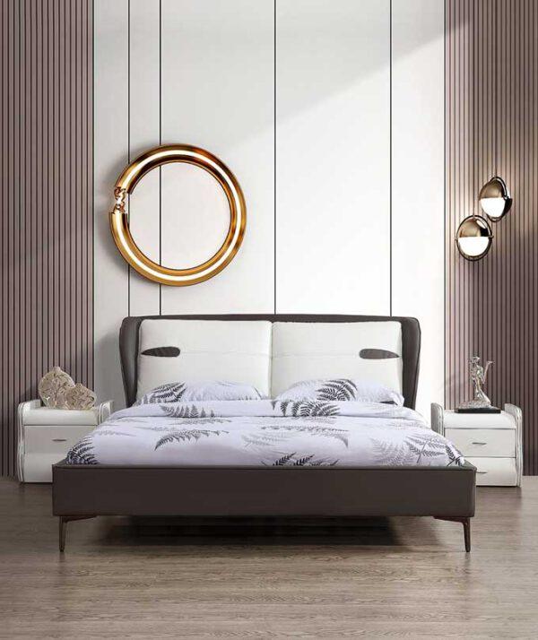 מיטה זוגית דגם דיווה אפור ללא ארגז מצעים