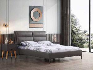 מיטה זוגית דגם שלבי אפור ללא ארגז