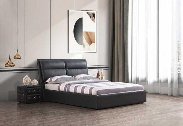מיטה זוגית דגם שלבי שחור עם ארגז