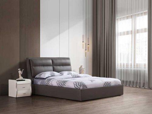 מיטה זוגית דגם שלבי אפור עם ארגז
