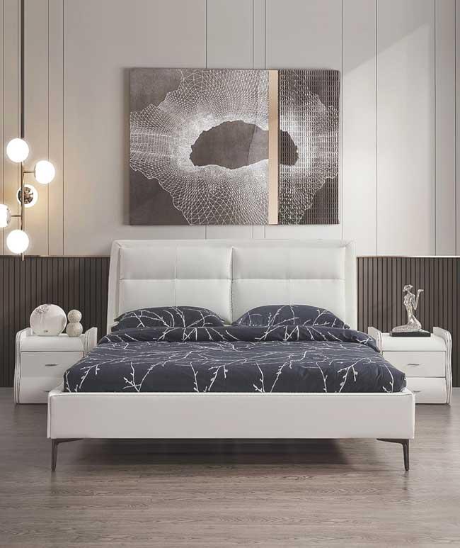 מיטה זוגית דגם שלבי לבן ללא ארגז