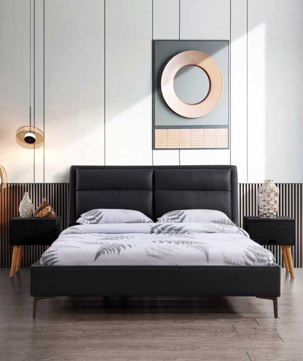 מיטה זוגית דגם שלבי שחור ללא ארגז