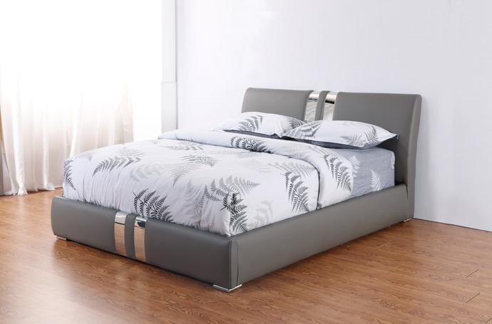 מיטה זוגית דגם ניו יורק אפור